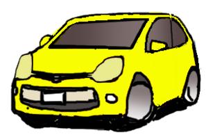 黄色いクルマ斜視左向き.png